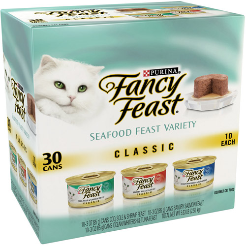 Purina Fancy Feast Classic Seafood Feast Variety Cat Food 30-3 oz. Cans