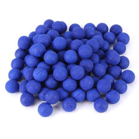 HERCHR 100pcs Rounds Soft Elastic Balls For Rival Zeus Apollo Toy Compatible Gun Bullet,Round Soft Elastic Balls, Rounds Soft Elastic Balls For  Rival Zeus Apollo (Bullet Rounds Blue)