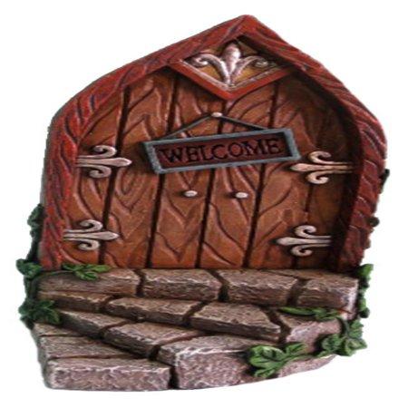 FAIRY GARDEN - MINI GARDEN BROWN DOOR WITH WELCOME SIGN - Welcome Gift
