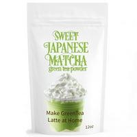 Sweet Japanese Matcha Green Tea Powder (12oz/340g) Latte Grade; Delicious Energy Drink - Shake, Latte, Frappe, Smoothie.