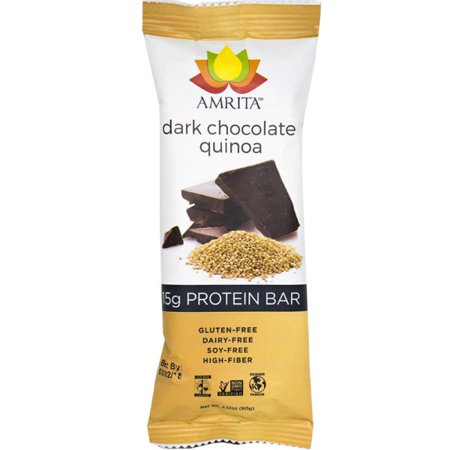 Paleo Dark Chocolate Quinoa High Protein Bars - Gluten-Free, Dairy-Free, and Non-GMO Certified - Vegan, Raw and Kosher - Kids Safe Snack - Clean fuel for athletes (Quincy Bar Halloween)