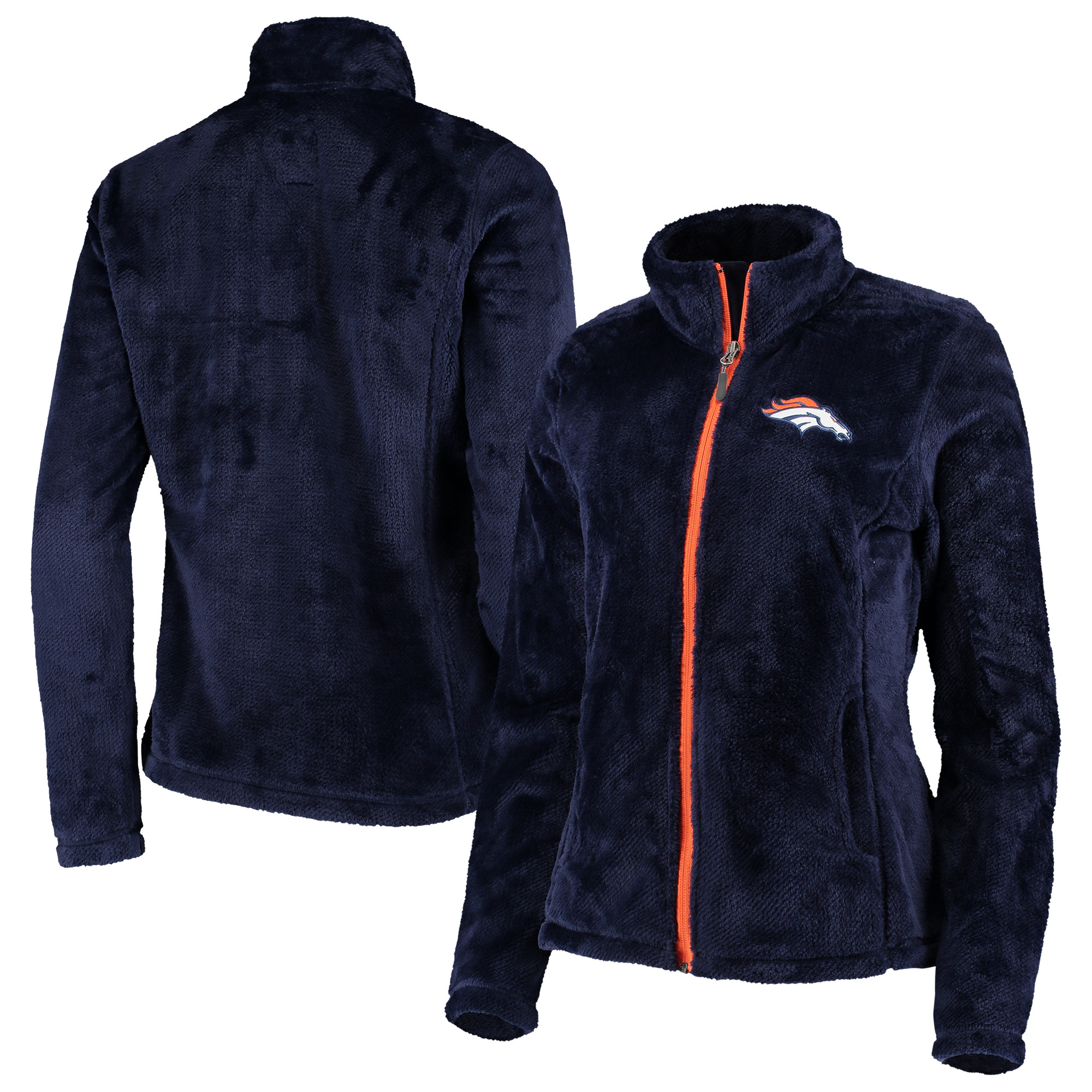 Denver Broncos G-III 4Her by Carl Banks Women's Goal Line Full-Zip Jacket - Navy