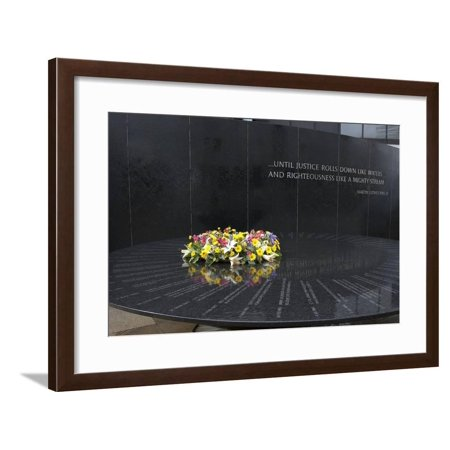 Civil Rights Memorial, Montgomery, Alabama Framed Print Wall (Montgomery Frames)
