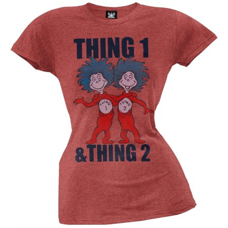 Dr. Seuss - Thing 1 and Thing 2 Juniors T-Shirt](Dr Suess Thing 2)