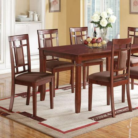 ACME Sonata Side Chair, Cherry & Chocolate Microfiber (Set of (Acme Furniture Cleavon Ii Red Linen Chair)