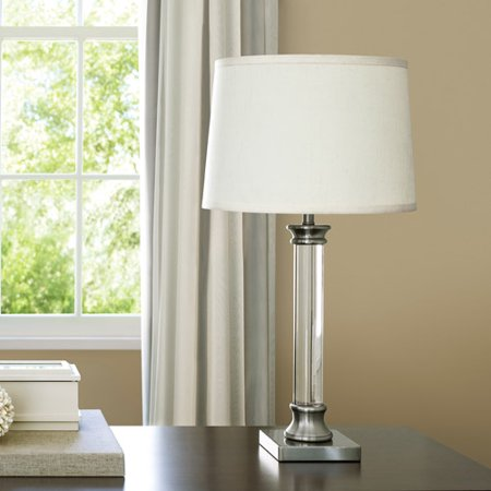Canopy lighting solutions translucent column table lamp brushed canopy lighting solutions translucent column table lamp brushed nickel finish with fresh ivory silk mozeypictures Images
