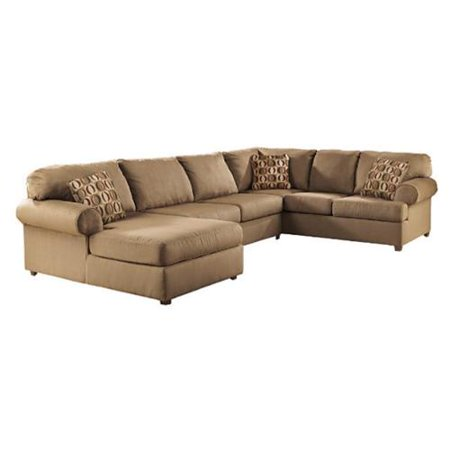 Ashley furniture cowan 3 piece sectional sofa in mocha for Ashley mocha sectional with chaise