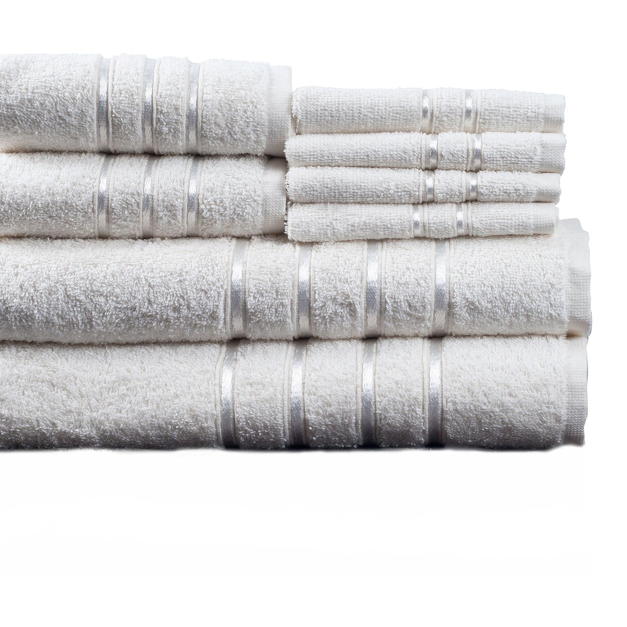 Somerset Home 8-Piece Cotton Plush Bath Towel Set