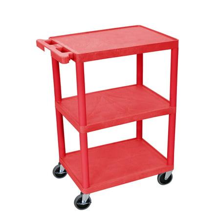 Luxor  Flat 3-shelf Heavy Duty Utility Cart