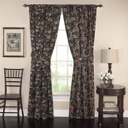 Gemstone Curtain (Waverly 100'' x 84'' Rhapsody Floral Drapery Pair in Jewel )