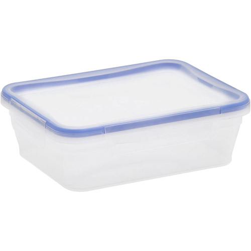 Snapware Total Solution 6-Piece Plastic 8.3-Cup Rectangle Containers, Clear