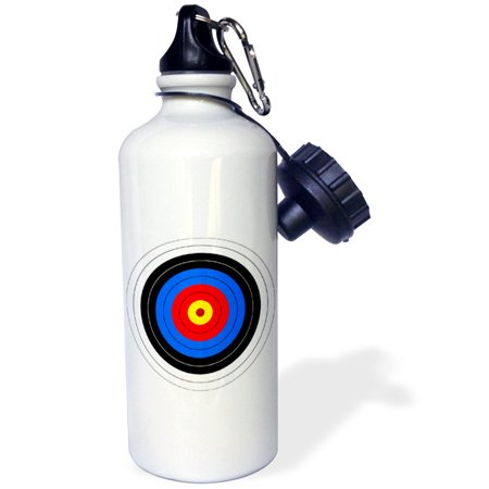 3dRose Target with red yellow black white and blue rings - archery, goal, sport, game, illustration, Sports Water Bottle, 21oz thumbnail