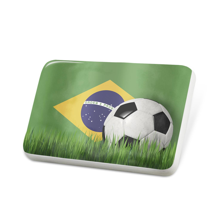 Porcelein Pin Soccer Team Flag Brazil Lapel Badge – NEONBLOND