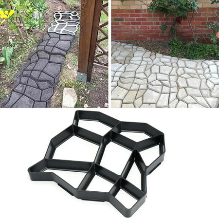 DIY Garden Paving Mould Patio Concrete Stone Lawn Walk Maker Slabs Path Brick ()
