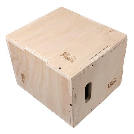 Moaere 3 in 1 Wood Plyometric Box Plyo Training Box Jumps