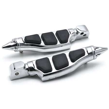 - Krator Yamaha Stiletto Rear Foot Peg Foot Rests Chrome V-Star V-Max Road Star Royal Stiletto Motorcycle Foot Pegs Footrests Left+Right