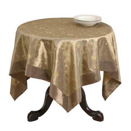 Saro Sevilla Embroidered and Sequined Table Cloth