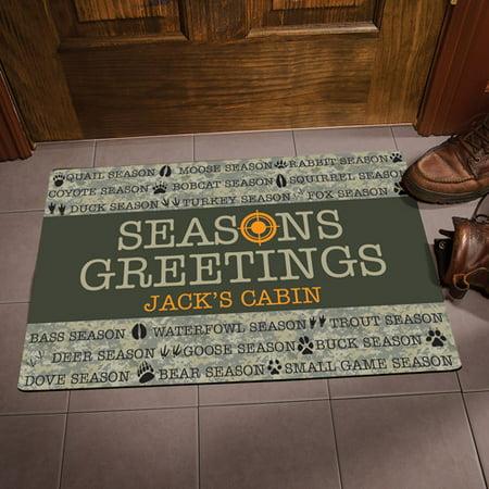Personalized Seasons Greeting Hunting Doormat thumbnail