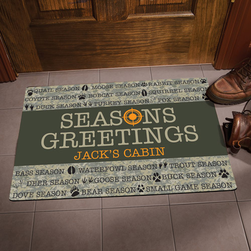 Personalized Seasons Greeting Hunting Doormat