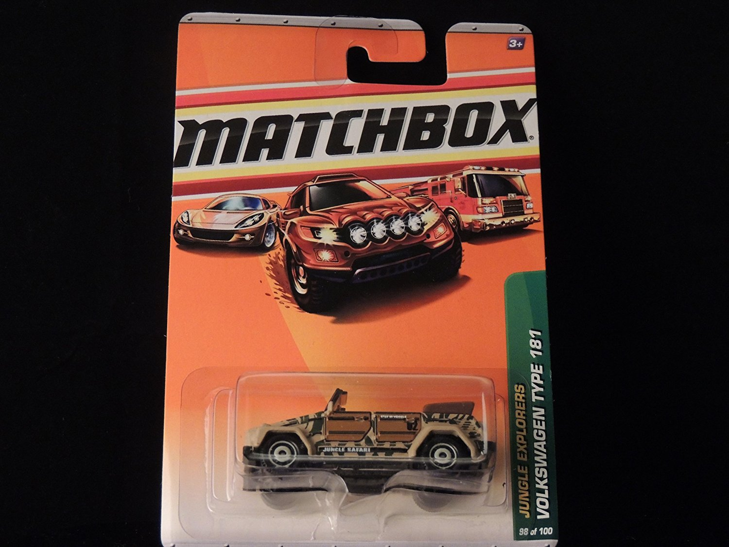 2010 JUNGLE EXPLORERS VOLKSWAGEN TYPE 181 98 OF 100, By Matchbox by
