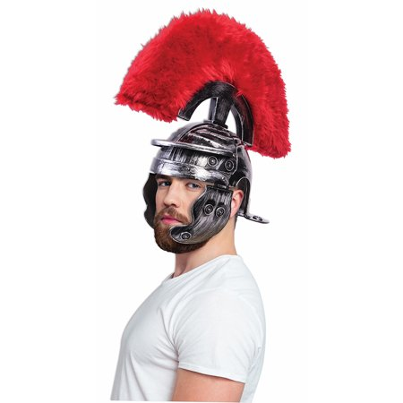 Super Deluxe Roman Costume Helmet Silver Adult Men - Costumes Man