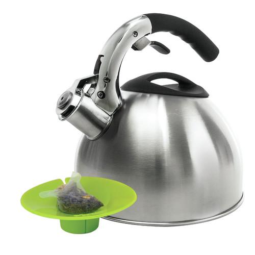 Primula Soft Grip 3-qt. Tea Kettle with Tea Bag Buddy