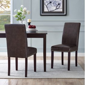 Better Homes & Gardens London Faux Leather Dining Chair - Set of 2,  Multiple Colors