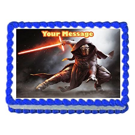 1/4 Sheet Star Wars Kylo Ren Edible Frosting Cake Topper*