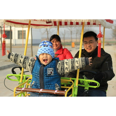 Canvas Print Family Happy Fun Child Chinese Driving Stretched Canvas 10 x 14