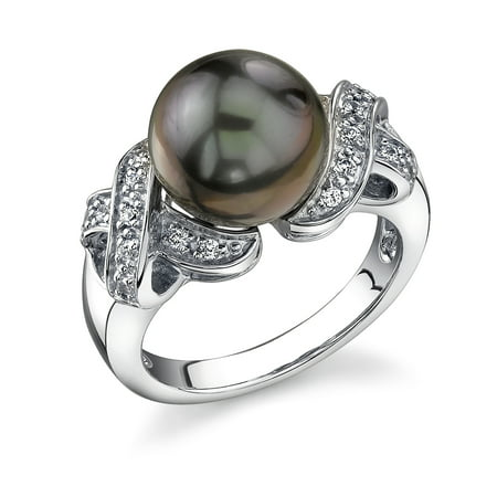 10 Mm Pearl Ring - 10mm Tahitian Cultured Pearl Lisa Ring