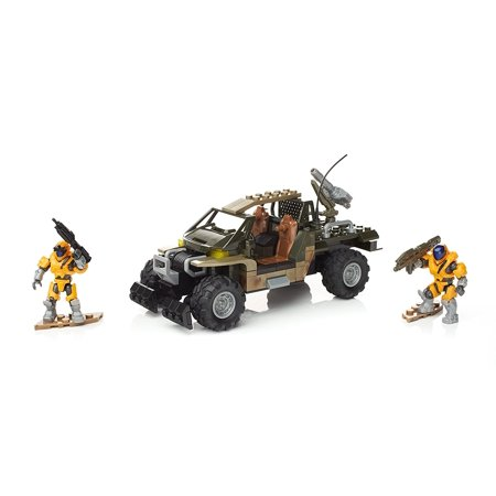 Halo UNSC Spade Rush, Buildable Spade four-wheel-drive utility truck with camo finish, rubber wheels, roll cage cockpit, and rear-mounted Missile Pod By Mega Bloks Ship from US