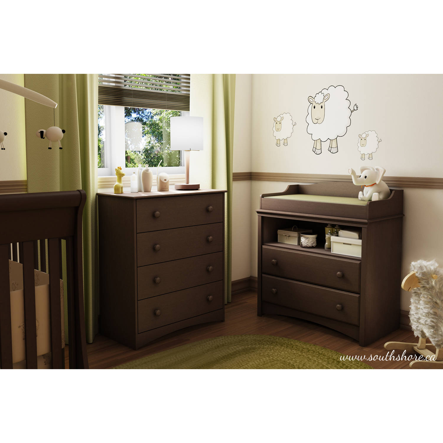 Attractive South Shore Angel Changing Table With Drawers, Multiple Finishes    Walmart.com
