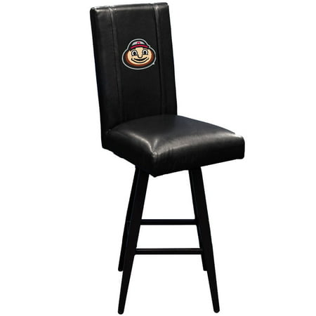 Ohio State University Collegiate Bar Stool Swivel 2000 with Buckeyes Brutus Head logo ()