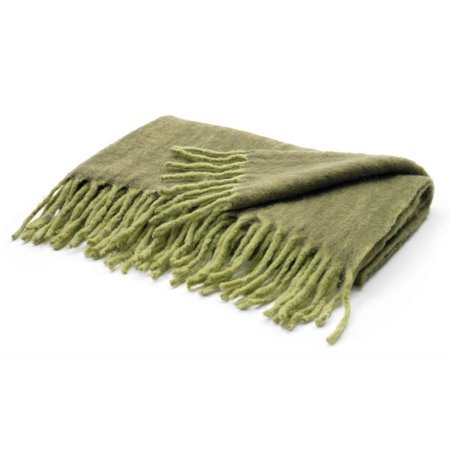 throw blanket in hunter and lime green. Black Bedroom Furniture Sets. Home Design Ideas
