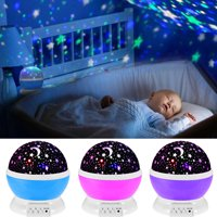 Baby Star Sky Night Lamp Lights, 360 Degree Romantic Room Rotating Cosmos Star Projector, Kid Bedroom,Christmas Gift