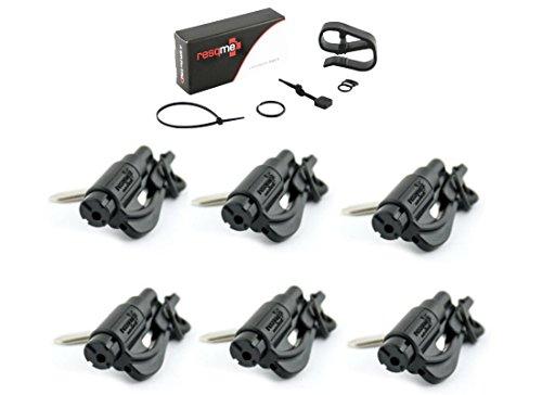 Resqme Original Keychain Car Escape Tool Black Pack of 6 with Visor Clip Kit