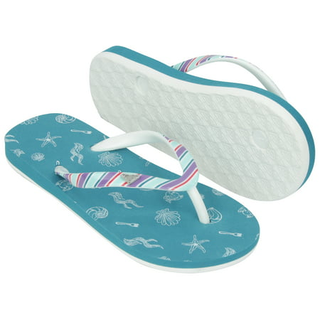 Roxy Girl x Disney Little Mermaid Pebbles VI Flip Flops Sandals - Teal