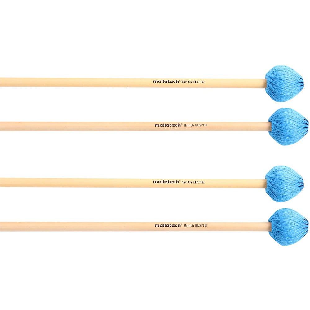 Malletech Smith Vibraphone Mallets Set of 4 (2 Matched Pairs) by Malletech