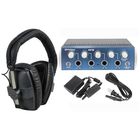 beyerdynamic dt 150 250 ohm presonus hp4 4 channel pro headphone amplifier amp. Black Bedroom Furniture Sets. Home Design Ideas