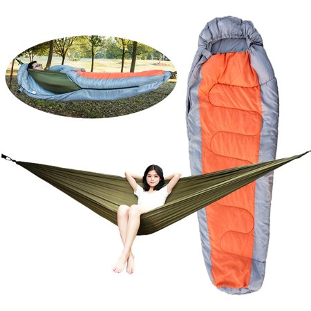Muti-functional Detachable Hammock Sleeping Bag with Hat for Camping Travelling Hiking - image 5 of 7