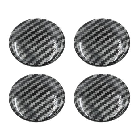 65mm Car Wheel Center Hub Cap Sticker Emblem Badge Carbon Fiber Pattern 4pcs - image 1 de 2