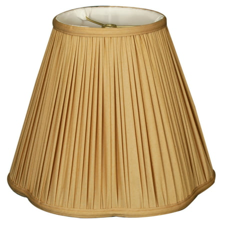 "Royal Designs 12"" Bottom Scallop Gather Pleat Lamp Shade Antique Gold"