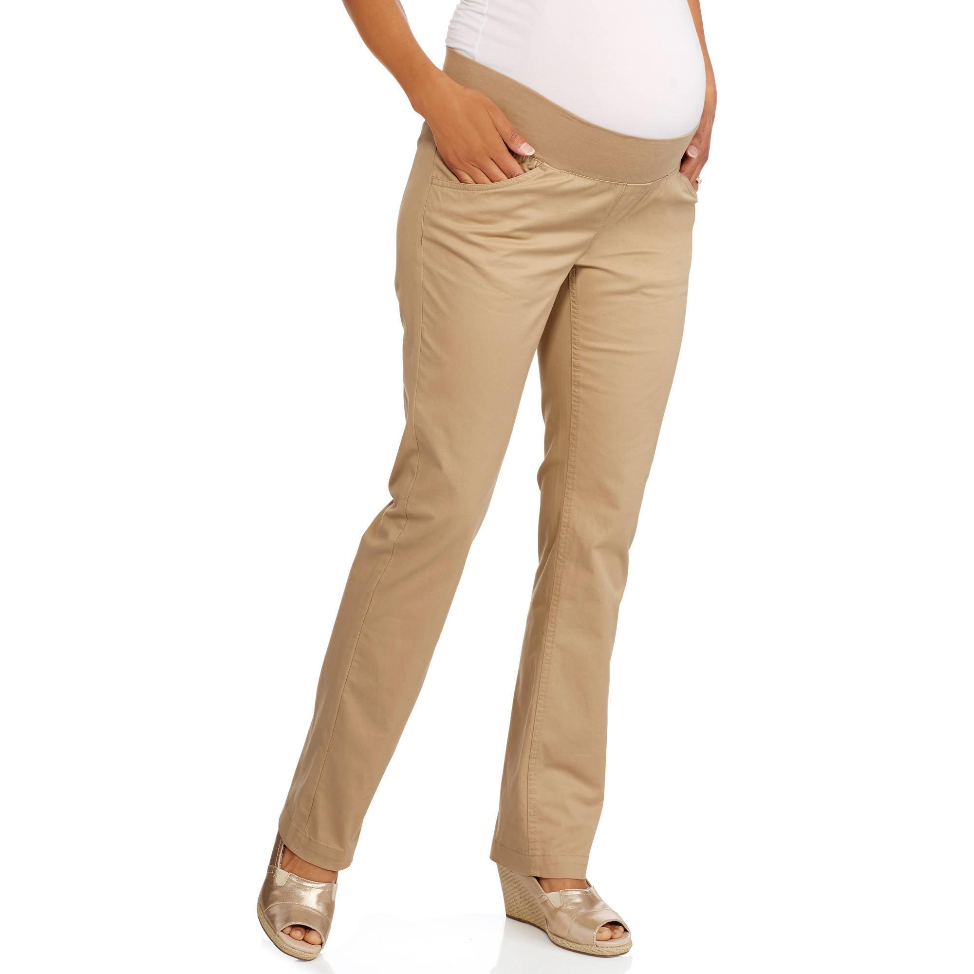 Oh! Mamma Maternity Four Pocket Demi-Panel Career Pants
