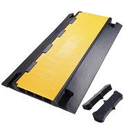 Yescom 4 Channel Rubber Electrical Wire Cable Cover Ramp Guard Warehouse Cord Protector