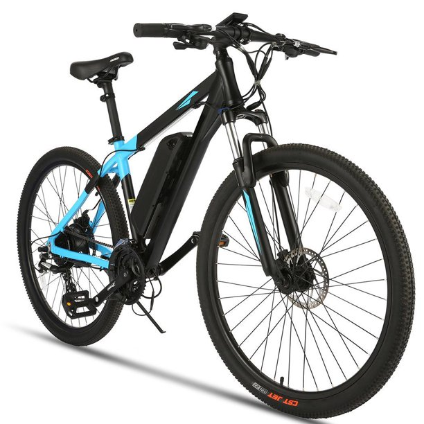 "High Speed 20MPH 350W Electric Bikes for Adults,27.5"" Mountain Bike, Removable 10.4A Lithium Ion Battery,24 Speed Gears"