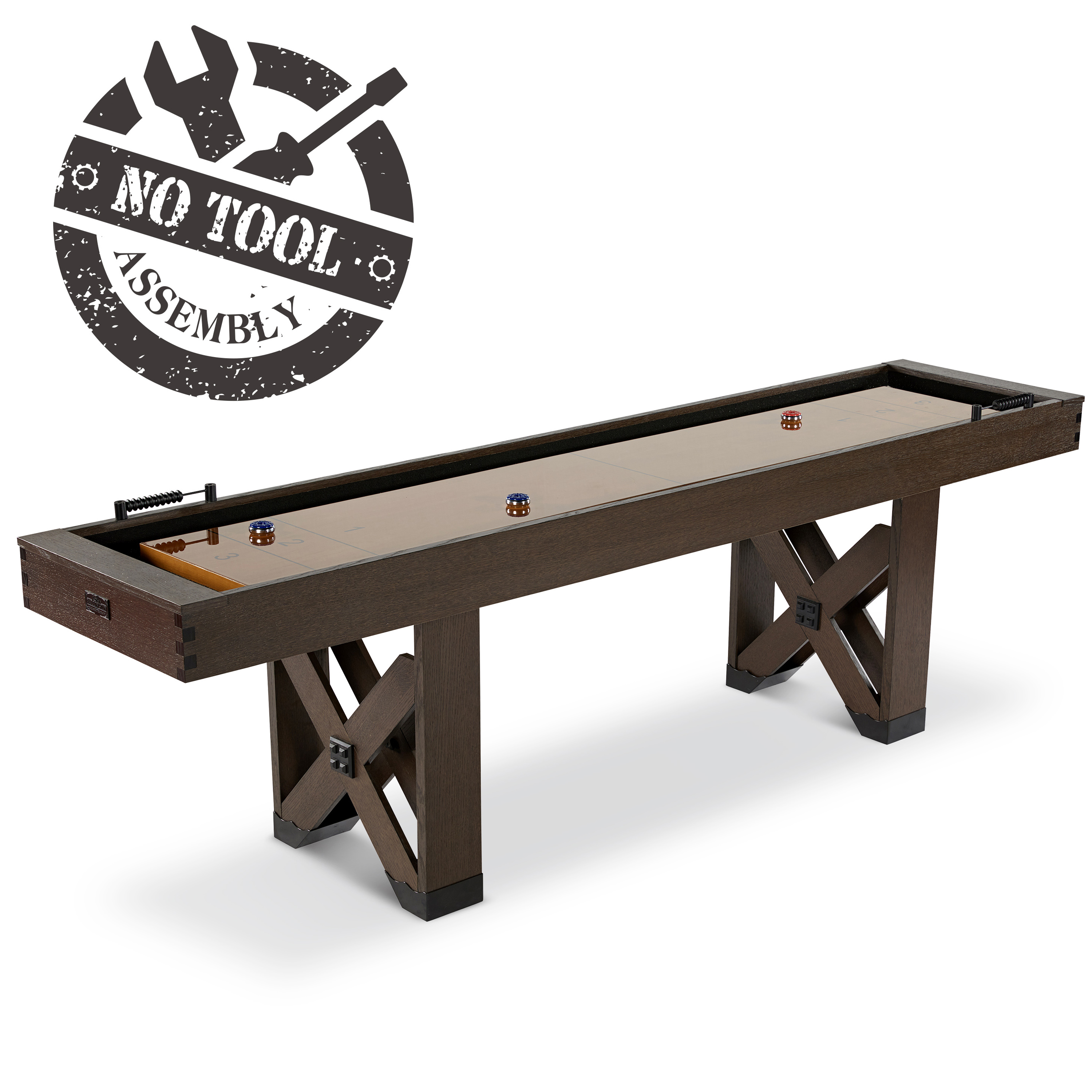 Fremont Collection Shuffleboard Table With No Tools Assembly   Walmart.com