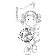 "Cozy Family Cling Stamp 5.5""X3.75"" Package-Tilda W/Laced Flag"