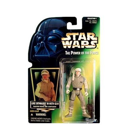 Star Wars: Power of the Force Green Card Luke Skywalker in Hoth Gear Action Figure