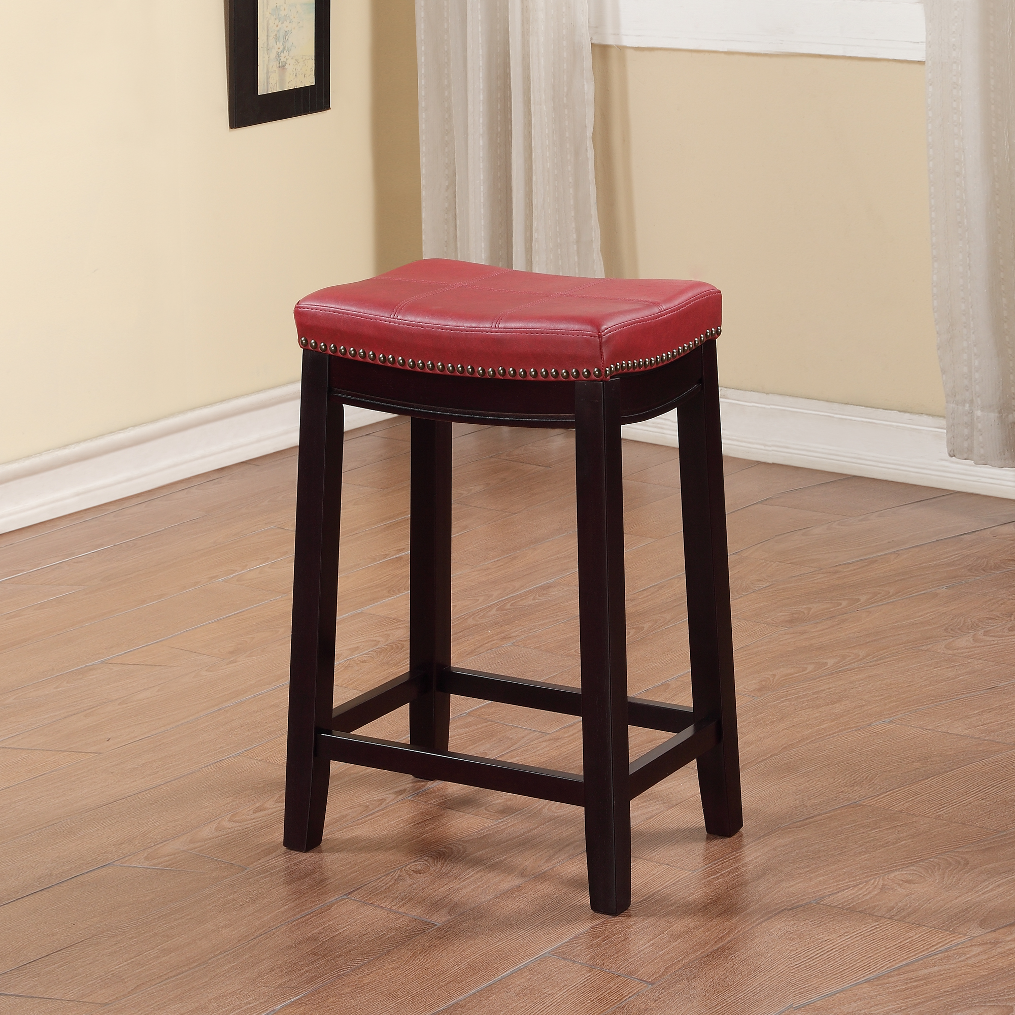 Linon Claridge Backless Counter Stool, 24 inch Seat Height, Multiple ...