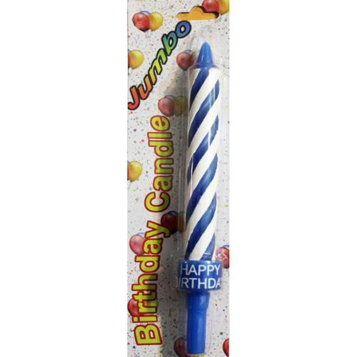 "Jumbo Birthday Candle 8.5""-Blue"